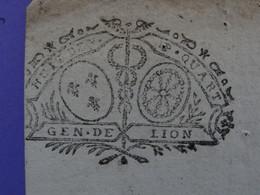 """1726 Généralité De LYON Papier Timbre N°171 De """"HUIT DEN. P.QUART"""" - Seals Of Generality"""