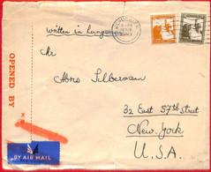 Aa2263 - PALESTINE - POSTAL HISTORY - Censored COVER To USA  Via SEA MAIL  1940 - Palästina