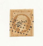 FRANCE 1852 - Prince-Président 10 Cts Bistre-jaune YT N°9 Oblitéré PC - Etat : Une Marge Courte - Voir Scan - 1852 Louis-Napoléon