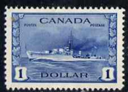 Canada 1942-48 KG6 War Effort $1 Destroyer Mtd Mint SG 388 - Nuevos