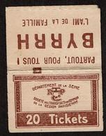 C1930 Pochette Vide 20 Tickets - Dépt De La Seine - Société De Transports En Commun De La Région Parisienne / Byrrh - Otros