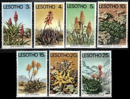 Lesotho 1977 Mi 221-227 Aloes And Succulents - MNH - Lesotho (1966-...)