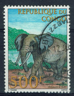 Congo (Brazzaville), 500f, Eléphant, 1998, Obl, TB - Oblitérés