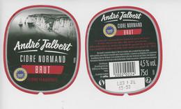 étiquette Cidre (Etretat Falaises)  André Jalbert - Cidre Normand Brut - Other