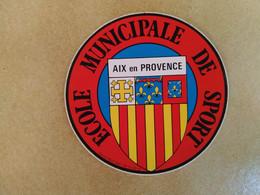 AUTOCOLLANT STICKER - ECOLE MUNICIPALE DE SPORT - AIX-EN-PROVENCE - Stickers