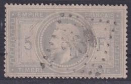 FRANCE 5 Frs Gris Empire Lauré  N° 33 Oblitéré GC - Etat TB - Signé A. Brun Et R. Calves - Voir Scan - 1863-1870 Napoléon III. Laure