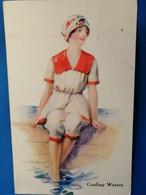 BORBER-ILLUSTRATORE-N°7165-Cooling Waters-VG 29-6-1917-ORIGINALE D'EPOCA AL100%- - Other Illustrators