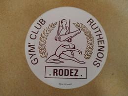 AUTOCOLLANT STICKER - GYM'CLUB RUTHENOIS – RODEZ – SPORT – CLUB SPORTIF - Stickers