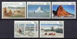Australian Antarctic Territory - 1984 - Yvert N° 63 à 67 ** - Série Courante, Vues Du Territoire - Neufs