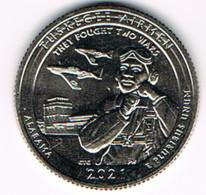 25 Cents / Quarter Tuskegee Airmen National Historic Site, Alabama, 2021, UNC, S - San Francisco - 2010-...: National Parks