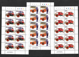 Angola Sapeurs-Pompiers Voitures Feuillets 10 Timbres 2004 **  Angola Firefighters Fire Engines 10 Stamps Sheetlets ** - Firemen