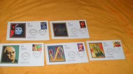 LOT 5 ENVELOPPES FDC DE 2001.../ LE SIECLE AU FIL DU TIMBRE LES PROGRES DE LA SCIENCE PARIS+ TIMBRE - 2000-2009