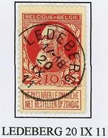 "Overgangstempel Van Het Type T2R   "" LEDEBERG "" Mooi Centraal Gestempeld - 1905 Barba Grossa"