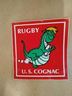 AUTOCOLLANT STICKER - U.S. COGNAC RUGBY – DRAGON – SPORT – CLUB SPORTIF - Stickers