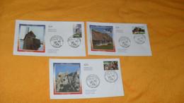 LOT 3 ENVELOPPES FDC DE 2004.../ PORTRAITS DE REGIONS LA FRANCE A VOIR, 27 PONT AUDEMER, MOULIN DU NORD, CHATEAU CATHARE - 2000-2009