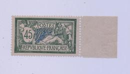 FRANCE 1907 - Merson 45 Cts Vert  YT N°143d Neuf ** BDF Papier Grande Consommation  - COTE 120€ - Superbe Scan - Ungebraucht