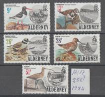 ALDERNEY   1984   **   MNH  YVERT    13/17   VALOR    25  €   PAJAROS - Alderney