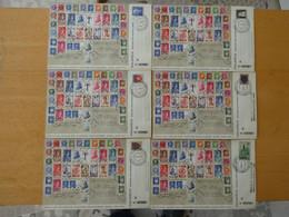 """FRANCE ' Enveloppes Pétain """"Salon Du Prisonnier"""" Avril 1944 Le Timbres Est Différent Sur Chaque Enveloppe - Used Stamps"""
