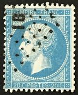 YT 22 Ambulants Losange IB Irun à Bordeaux (°) Obl Napoléon III 1862 20c France – Ciel - 1862 Napoleone III