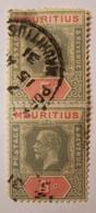 Ile Maurice (mauritius) - George V 5C  Paire Verticale - Oblitéré - Mauricio (1968-...)