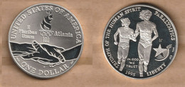 ESTADOS UNIDOS   1 Dollar ( Paralympics) 1995 Silver (.900) • 26.73 G • ⌀ 38.1 Mm KM# 259 - N. Commemoratives