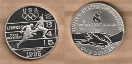 ESTADOS UNIDOS   1 Dollar ( Track And Field)1995 Silver (.900) • 26.73 G • ⌀ 38.1 Mm KM# 264 - N. Commemoratives