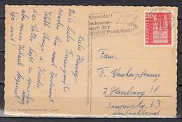 Postkaart Van Thun 1 Naar Hamburg (Duitsland) - Covers & Documents
