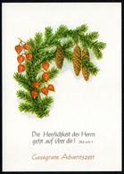E0223 - TOP Glückwunschkarte Weihnachten Advent - DDR Verlag Schäfer - Non Classés