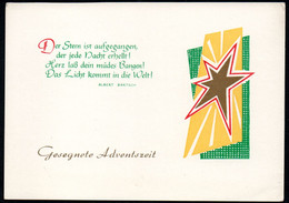 C9517 - TOP Glückwunschkarte Weihnachten Advent - DDR Verlag Schäfer - Non Classés