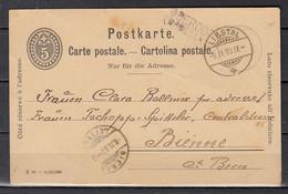 Postkaart Van Liestal Naar Bienne Oberdorf Griffe - Covers & Documents
