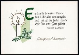 E2952 - TOP Glückwunschkarte Weihnachten Advent - DDR Verlag Schäfer - Non Classés