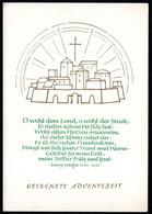 E2953 - Glückwunschkarte Weihnachten Advent Jerusalem - DDR Verlag Schäfer - Non Classés