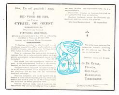 DP Cyriel De Geest ° Sint-Antelinks Herzele 1896 † Ninove 1949 X Eleonora Gilleman // Fermon Dammekens Timbermont - Devotion Images