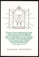 C3511 - Glückwunschkarte Weihnachten Advent Krippe Weihnachtskrippe - DDR Verlag Schäfer - Non Classés