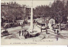 Cpa Aubagne  Place De L'obelisque - Aubagne