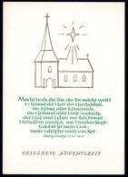 E1547 - Glückwunschkarte Weihnachten Advent - DDR Verlag Schäfer - Non Classés