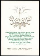 F1031 - TOP Glückwunschkarte Weihnachten Advent - DDR Verlag Schäfer - Non Classés