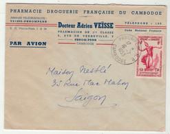Cambodge // Lettre Par Avion De Phnom-Penh Pour Saigon 16/7/1953 - Vietnam