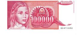 Yugoslavia P.97 100000 Dinar  1989 Unc - Yugoslavia