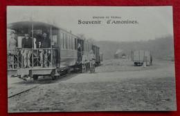CPA 1922 Erezée - Souvenir D'Amonines - Station Du Vicinal - Tram - Erezee