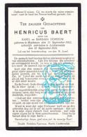 DP Henricus Baert / Dereeuw ° Halluin Halewijn FR Nord 1862 † Lichtervelde BE 1924 - Devotion Images