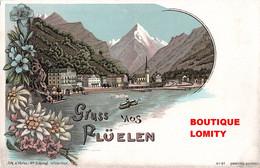 Suisse Gruss Aus Fluelen Cpa Illustration Litho  Verlag Schlumpf N°81 - UR Uri