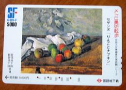 GIAPPONE Ticket Biglietto Treni Metro Bus - Arte Frutta Painting  Railway SF Card 5000 ¥ - Usato - World
