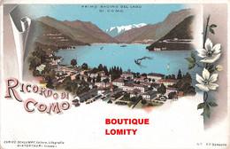 Italie Ricordo Di Como  Cpa Illustration Litho Litogrfia Verlag Edit Schlumpf N°93 - Como