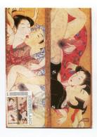 Carte Maximum Maximum Kaart  Nu Naakt Nu Japan Wood Shunga - Nus
