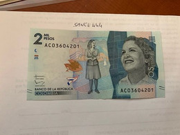 Colombia 2 Mil Pesos Uncirc. Banknote 2015 - Colombia