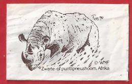 NL.- WNF. ZWARTE OF PUNTLIPNEUSHOORN, AFRIKA. Suiker. Sucre. Sugar. Zucker. Zucchero - Azúcar