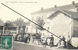 LOT 3027 MOULES 1907 ECOLES COMMUNALES GROUPES D'ENFANTS DEVANT L'ECOLE - Other Municipalities