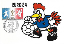 France - Mascotte Coq - EURO 84 - Championnat Europe Football Foot - Finale Euro 12 27 Juin 1984 Cad PARIS Yv 1940 - Unclassified