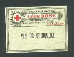 Petit Flyer Léon Rose  Pharmacien De 1ère Classe Pharmacie Moderne à Giromagny ( 90 ) - Health